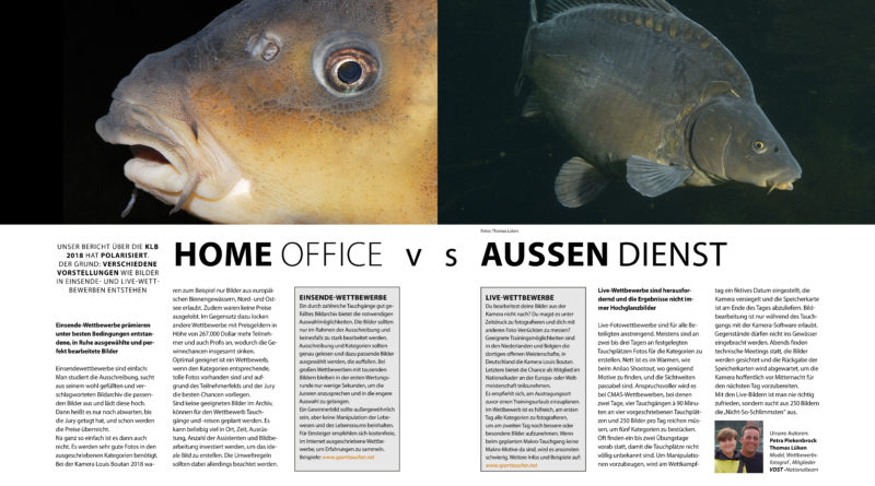 HOME OFFICE VS AUSSEN DIENST